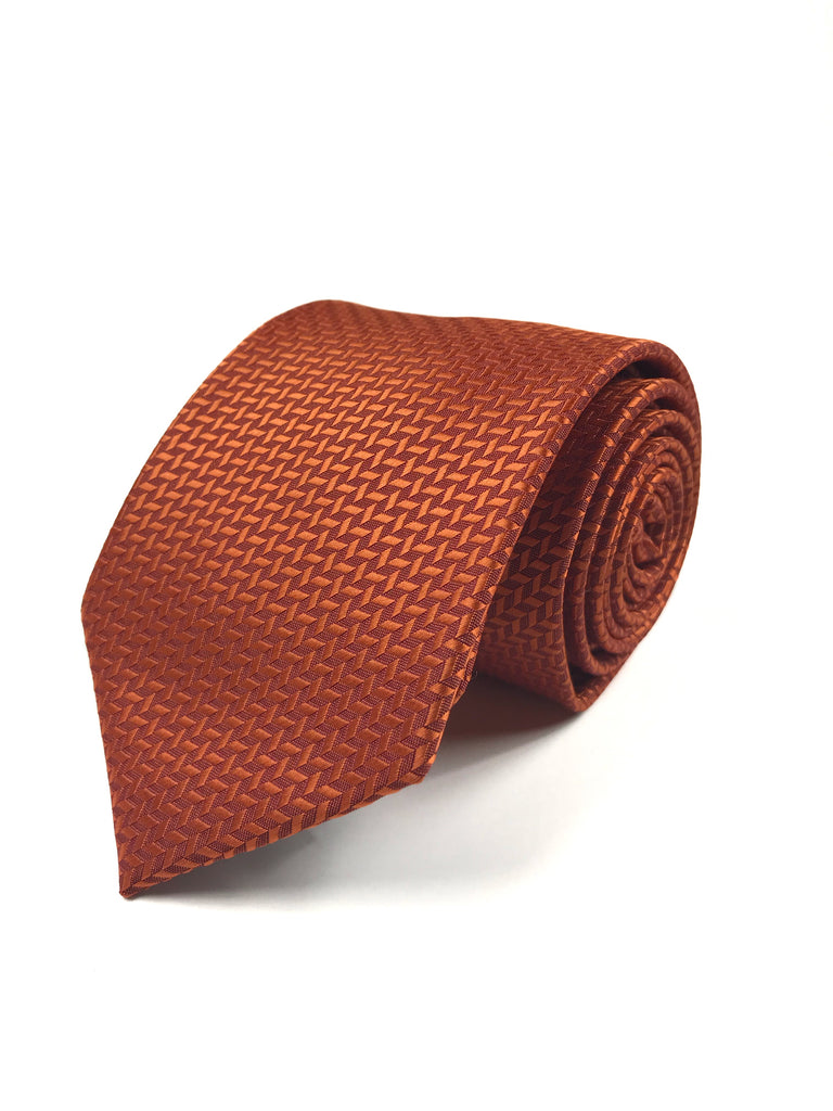 Orange Herringbone Tie