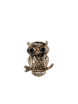 Gold Owl Lapel Pin
