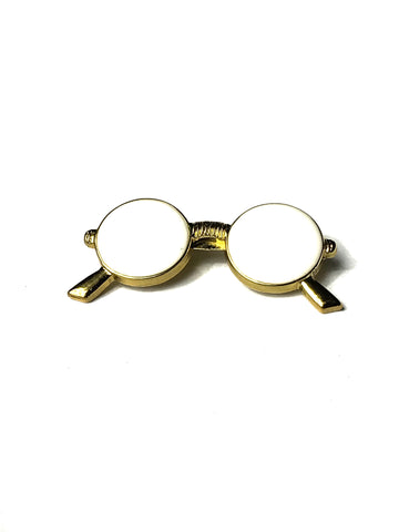 White Sunglasses Lapel Pin