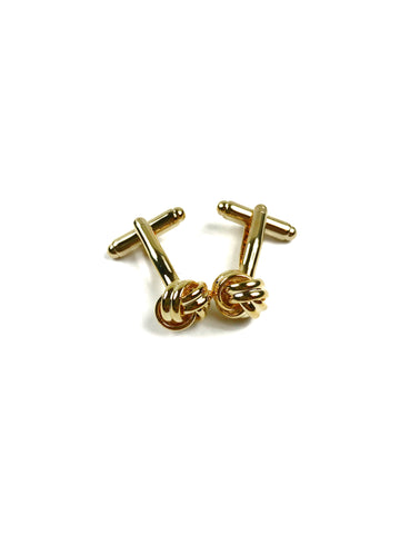 Gold Metal Knot Cufflinks