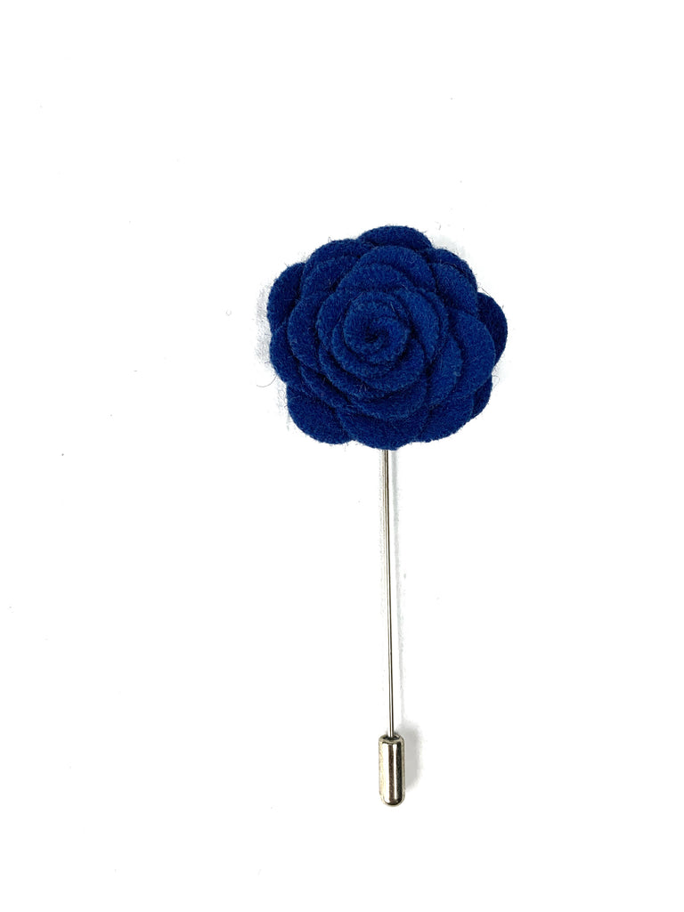 Blue Flower Lapel Pin