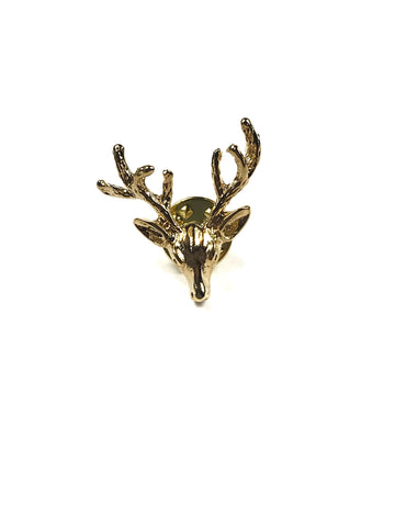 Stag Button Lapel Pin
