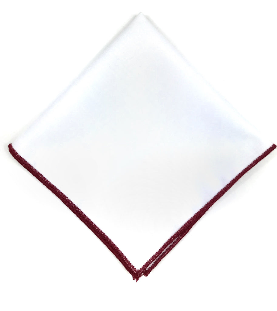 White and Red Pocket Square