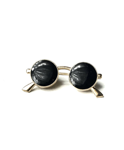 Black and Silver Sunglasses Lapel Pin