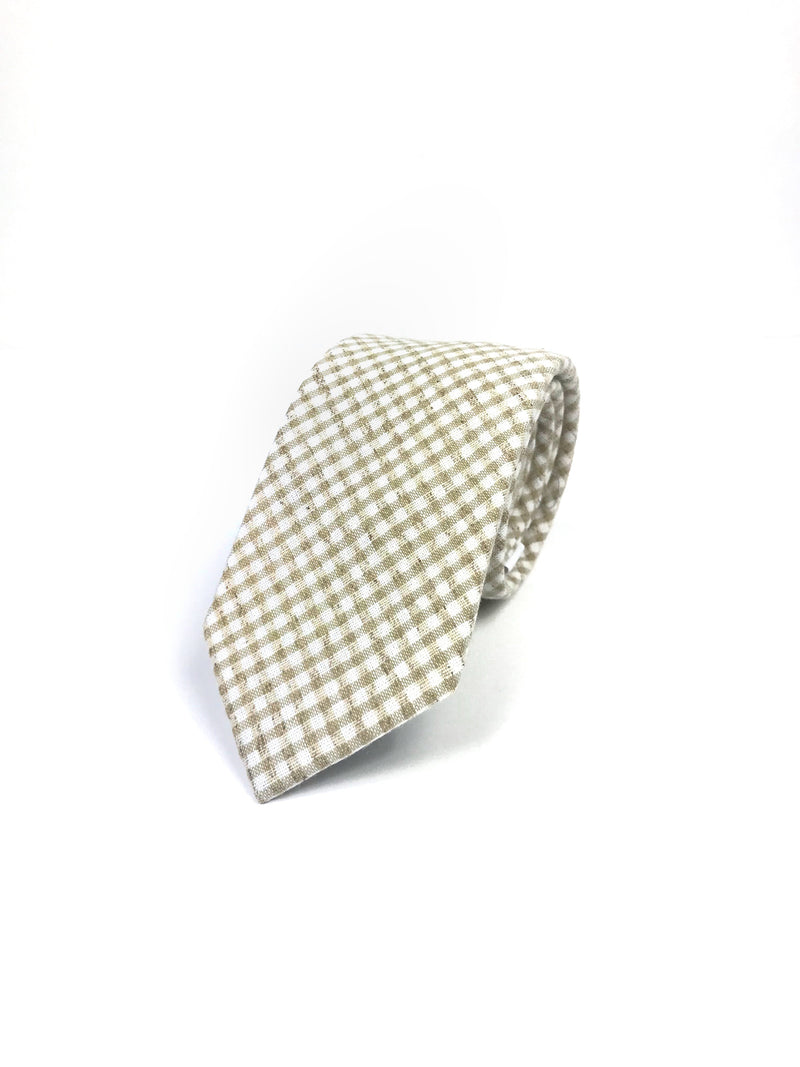 Tan Checkered Tie