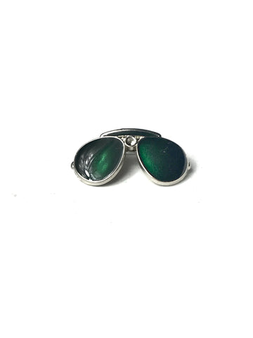 Green Sunglasses Lapel Pin