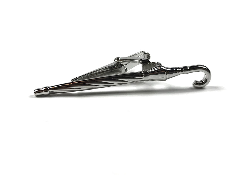 Silver Umbrella Tie Bar