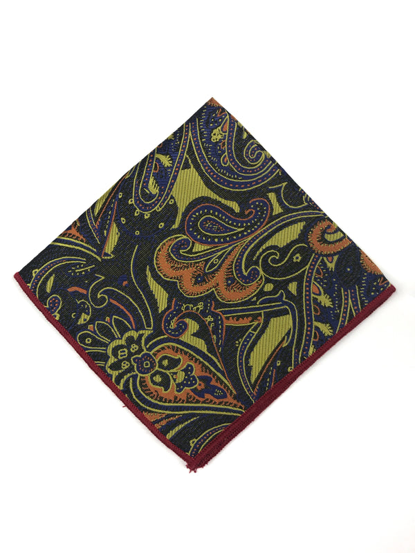 Multi Colored Paisley Pocket Square