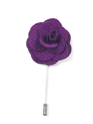 Purple Flower Lapel Pin