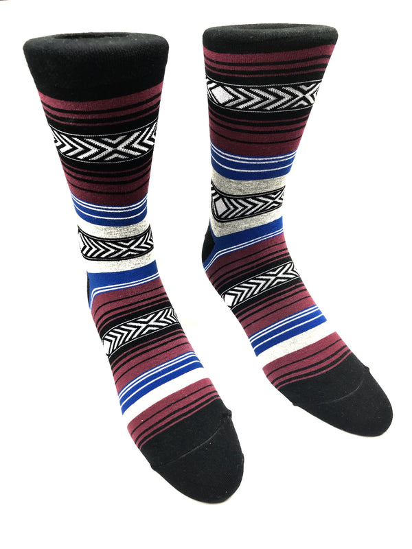 Black and Red Striped Socks