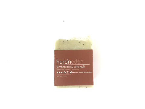 Herb'N Eden Lemongrass and Patchouli Mini Soap