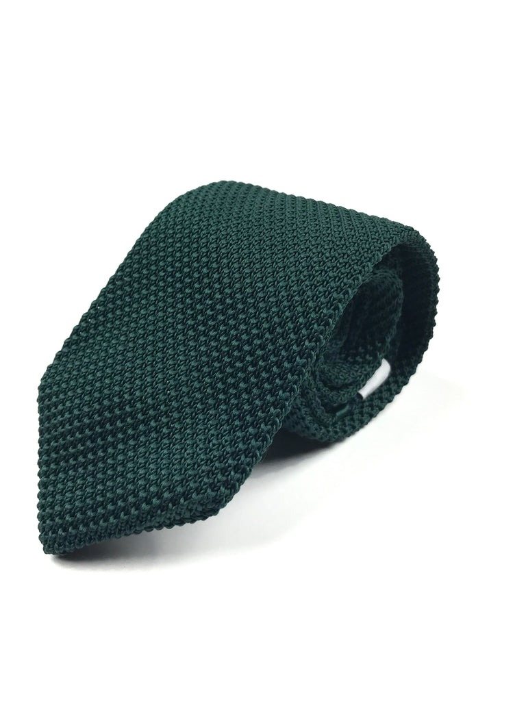 Forest Green Knit Tie