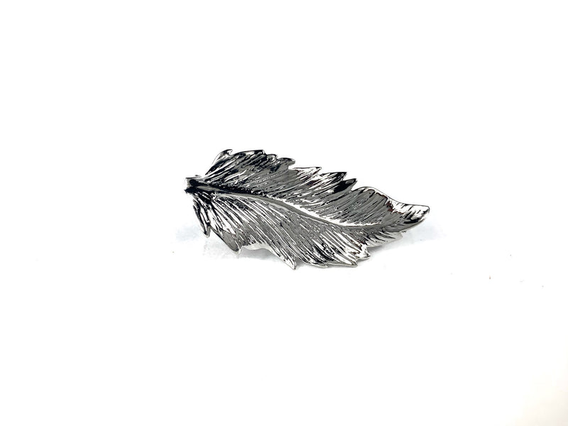 Silver Feather Tie Bar