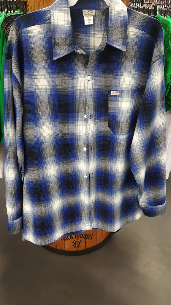 Plaid Royal Blue Mens