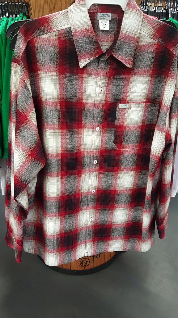 Plaid Red Mens