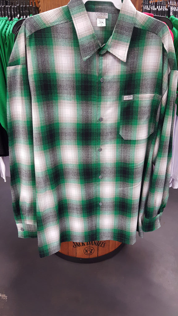 Plaid Green Mens