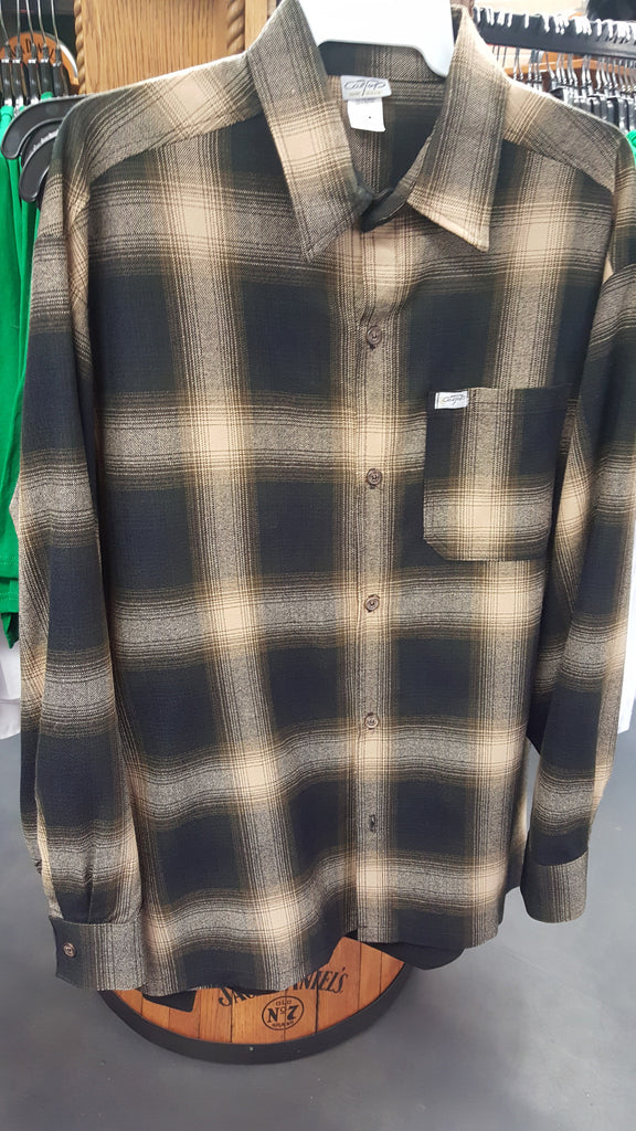 Plaid Brown Mens