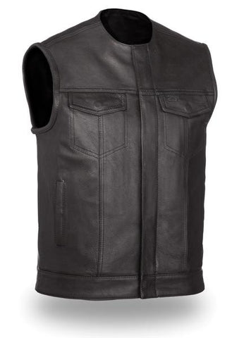 No Rival Men's leather vest