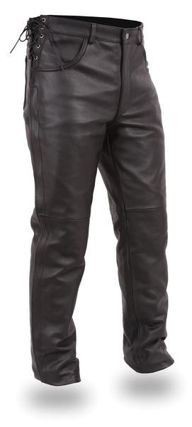 Men's Leather Pullover Pants