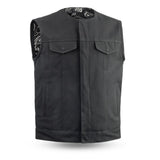 1DOWN Canvas Motorcycle Vest