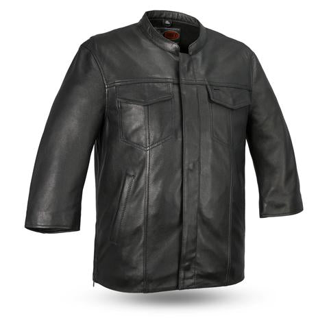 1DOWN Leather 3/4 Sleeve Shirt