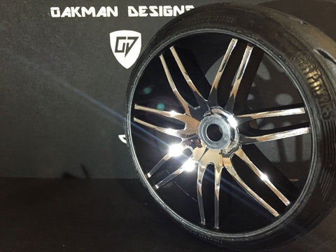 OAKMAN DESIGNS 1:5 GRP GWHO2 CHROME DREWSKIE WHEEL SKINS