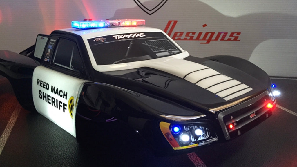 Led light kits tagged 110 rc police car light bar kit oakman police deluxe light package aloadofball Image collections