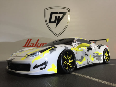 CUSTOM RC TAMIYA 1/10 FERRARI 458 BODY SHELL