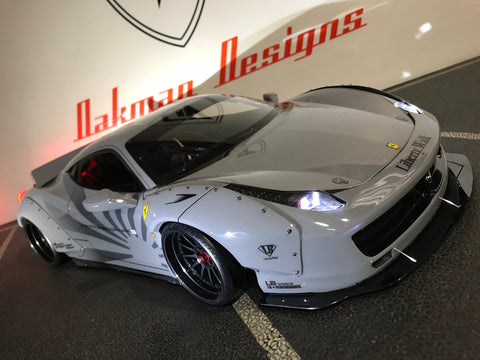 CUSTOM RC TAMIYA 1/10 FERRARI 458 LIBERTY WALK BODY SHELL