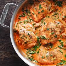 Chicken Thighs with Frescobene Vodka Sauce