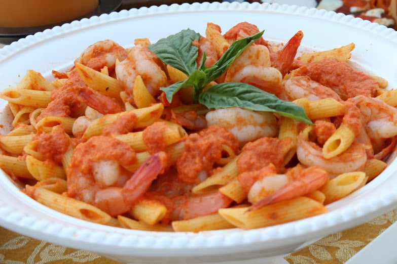 Penne with Shrimp and Frescobene Vodka Sauce