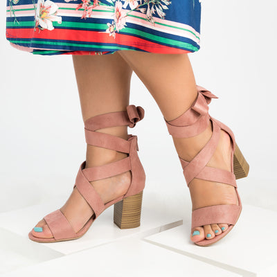 Lace up Block Heel Sandals