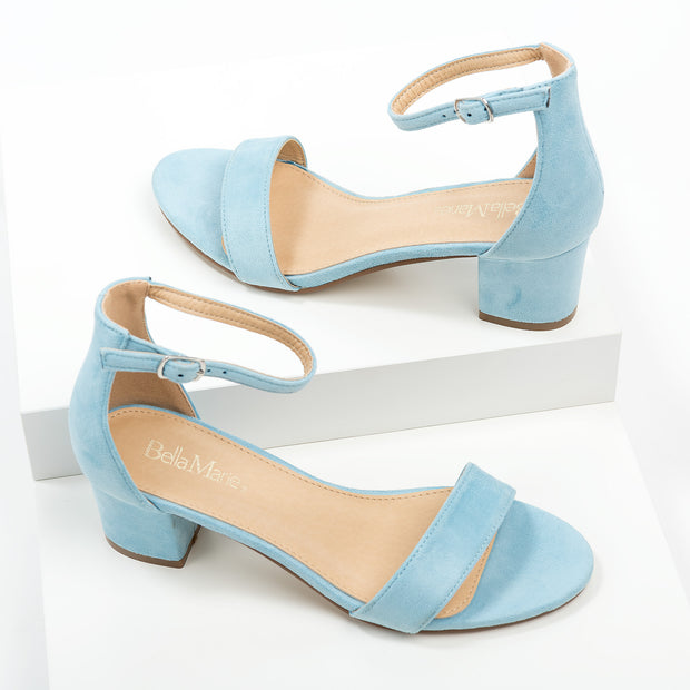 Block Heel Light Blue Sandals