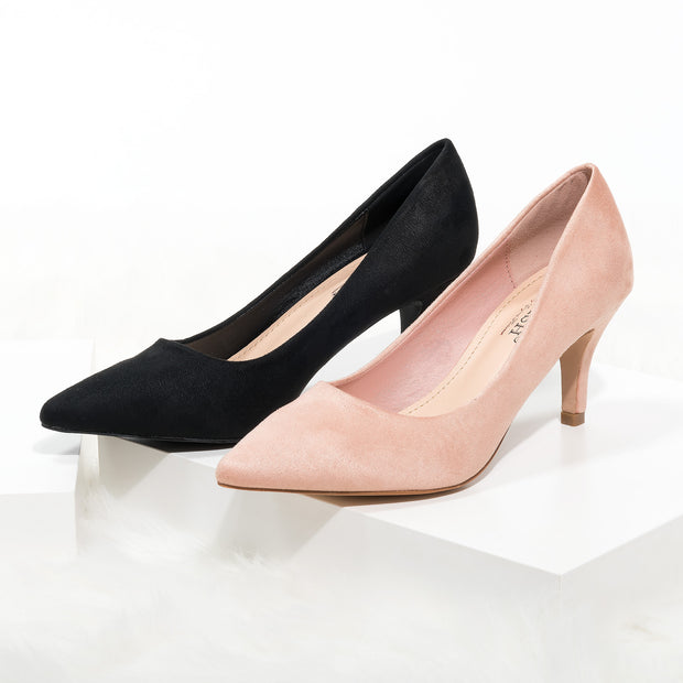 Pointed Toe Blush Pumps