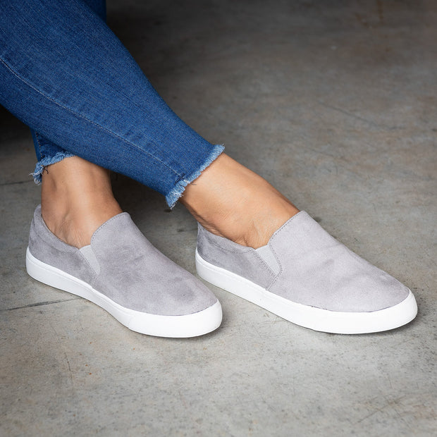 Platform Slip-On Grey Sneakers