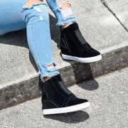 Hide Black Wedges Sneakers
