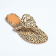 Medallion Spotted Cheetah Thong Sandals