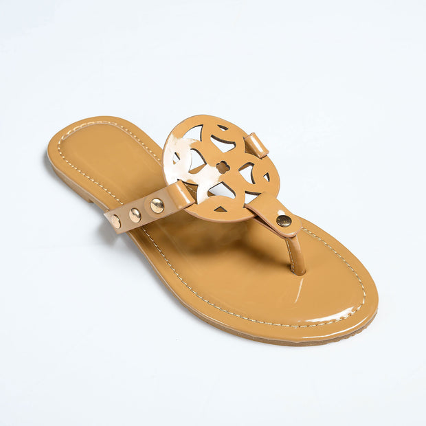 Medallion Mocha Thong Sandals