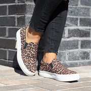 Leopard Platform Slip on Sneakers