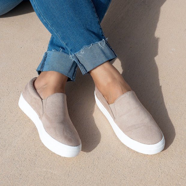 Casual Taupe Platform Sneakers