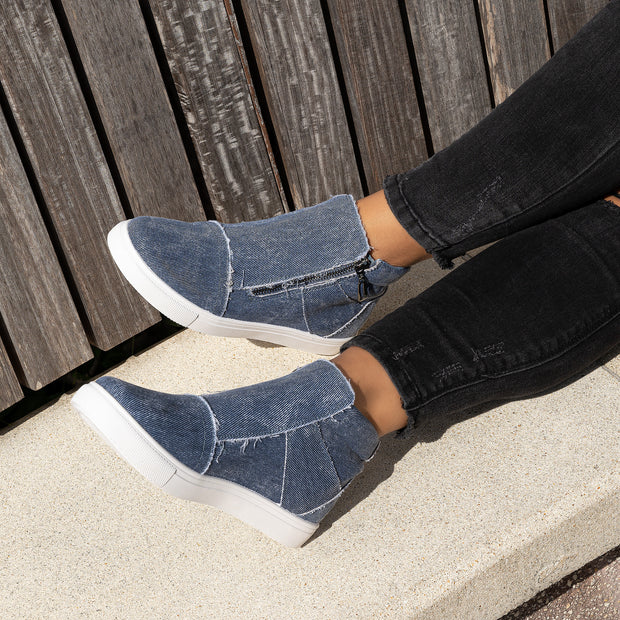 Fast Fashion Blue Denim Sneakers