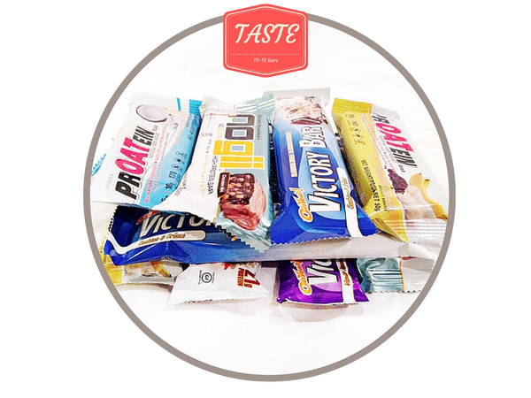 1. Taste Box. 10 - 12 gluten free bars. About $40 in value