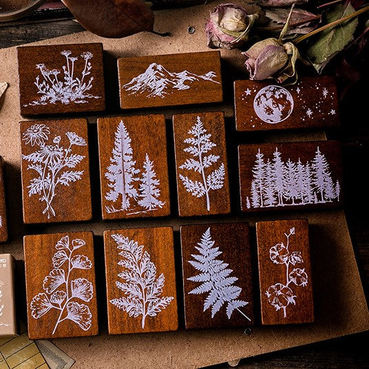 Botanical - Forest Series Rubber Stamp - PapergeekCo