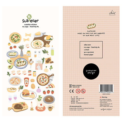 Food Trip Stickers Sheet - PapergeekCo