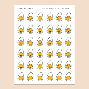 Egg Mood Stickers 114 - PapergeekCo