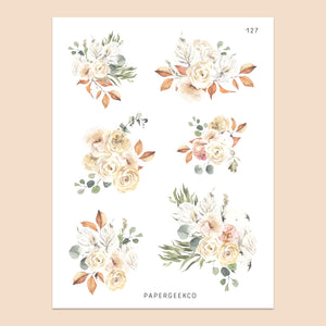 Autumn Floral Stickers 127 - PapergeekCo