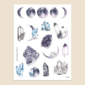 Amethyst - Moon Phase Stickers 130 - PapergeekCo