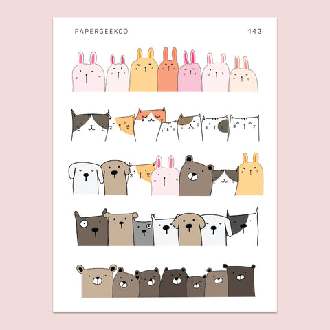 Cute Animal Borders Stickers 143 - PapergeekCo