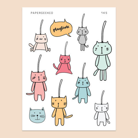 Cat Keychain Stickers 145 - PapergeekCo