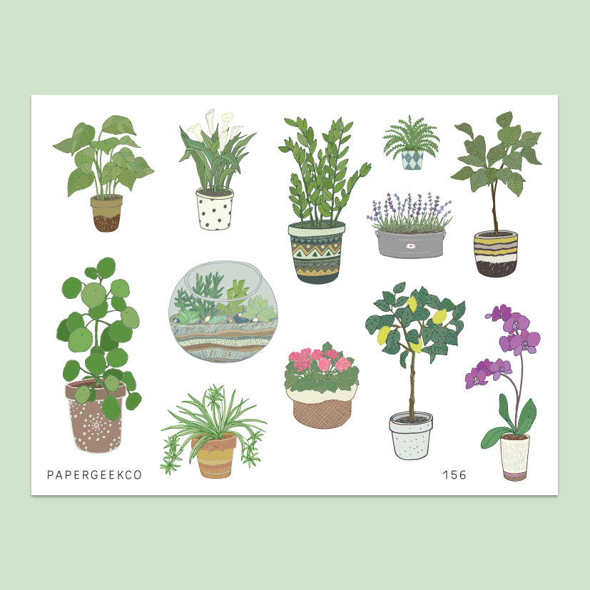 Indoor Plants Stickers vol.4 - 156 - PapergeekCo
